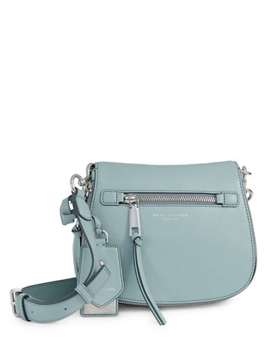 Marc Jacobs Recruit Small Leather Saddle Bag-BLUE-One Size