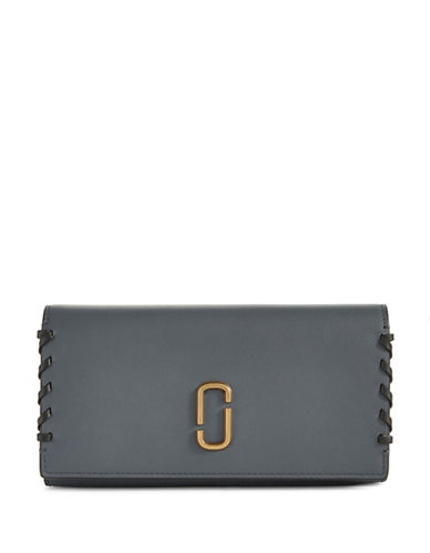 Marc Jacobs Flap Continental Leather Wallet-SLATE-One Size