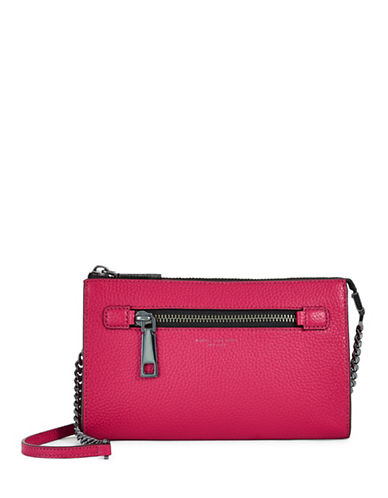Marc Jacobs Gotham Small Leather Crossbody-RASPBERRY-One Size