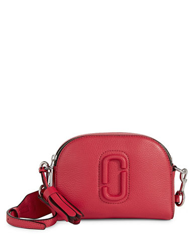 Marc Jacobs Leather Shutter Crossbody Bag-PINK-One Size