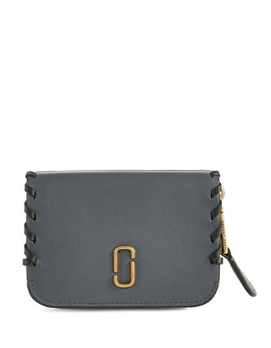 Marc Jacobs Zip Leather Purse-SLATE-One Size