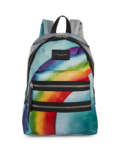 Marc Jacobs Rainbow Biker Backpack-GREY MULTI-One Size