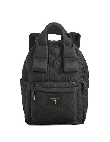 Marc Jacobs Nylon Knot Large Backpack-BLACK-One Size