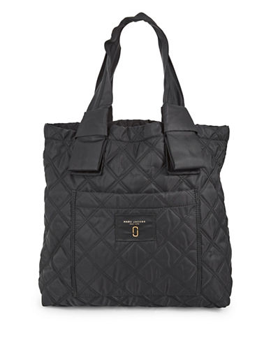 Marc Jacobs Nylon Knot Tote Bag-BLACK-One Size