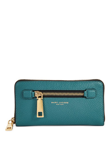 Marc Jacobs Standard Continental Leather Wallet-PACIFIC BLUE-One Size