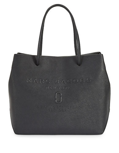 Marc Jacobs Logo Shopper Bag-BLACK-One Size