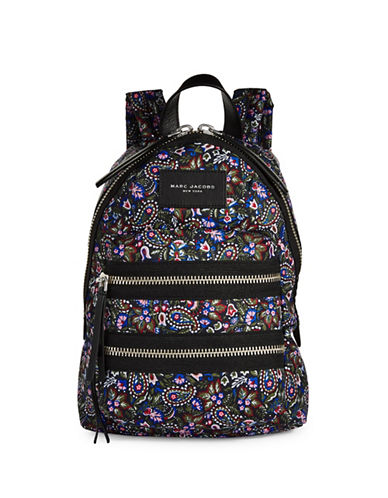 Marc Jacobs Mini Paisley Biker Backpack-PURPLE-One Size