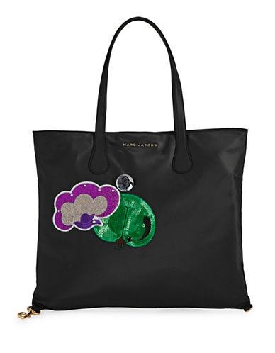 Marc Jacobs Nylon Wingman Tote Bag-BLACK-One Size
