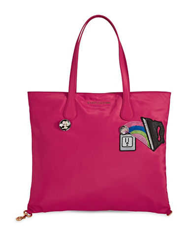 Marc Jacobs Nylon Wingman Tote Bag-PINK-One Size