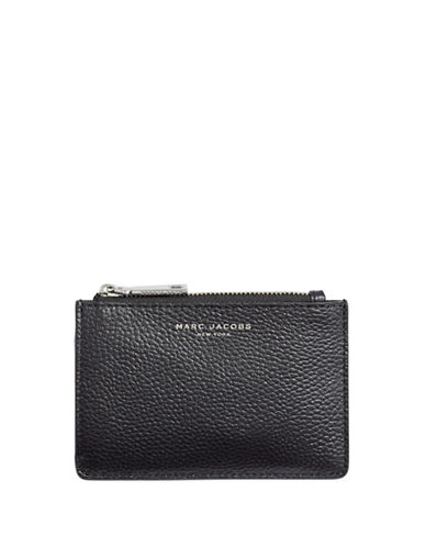 Marc Jacobs Textured Leather Wallet-BLACK-One Size