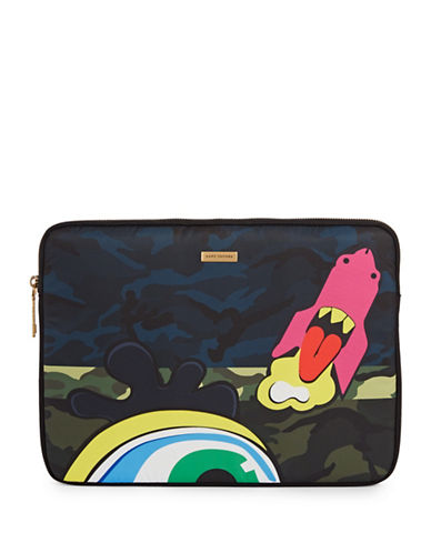 Marc Jacobs 13-Inch Monster Camo Print Computer Case-NAVY-One Size