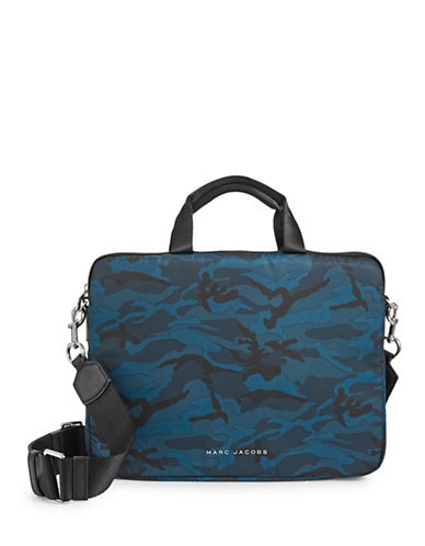 Marc Jacobs 13-Inch Logo Commuter Case-BLUE-One Size