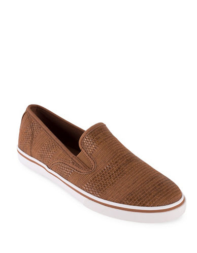 Lauren Ralph Lauren Janis Woven Slip-On Sneakers-TAN-10