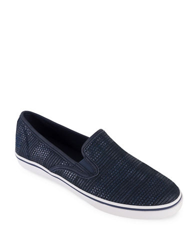 Lauren Ralph Lauren Woven Slip-On Sneakers-NAVY-11
