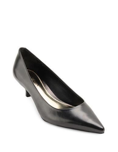 Lauren Ralph Lauren Abbot Leather Kitten Heels-BLACK-6