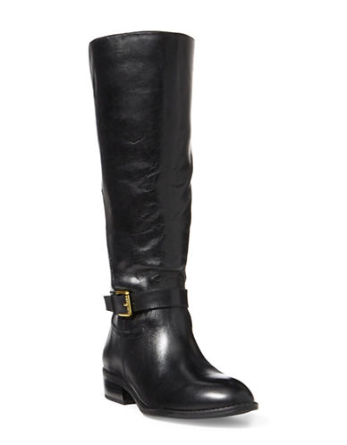 Lauren Ralph Lauren Makenzi Leather Riding Boots-BLACK-5