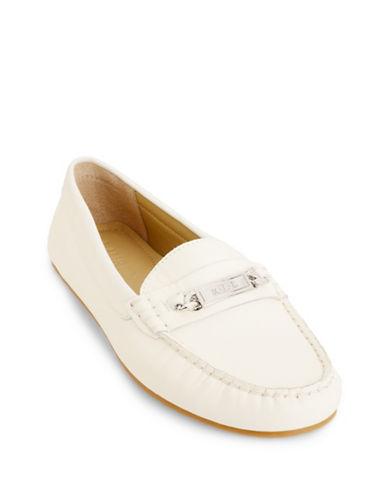 Lauren Ralph Lauren Berdine Leather Loafers-CREME-7.5