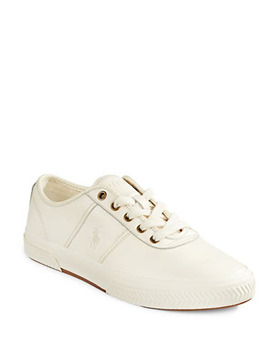 Polo Ralph Lauren Tyrian Leather Sneakers-CREAM-9.5