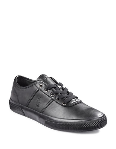 Polo Ralph Lauren Tyrian Leather Sneakers-BLACK-12