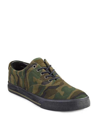 Polo Ralph Lauren Suede Camo Sneakers-OLIVE-7
