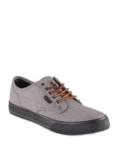Polo Ralph Lauren Herringbone Cotton Sneakers-GREY-11 89028884_GREY_11