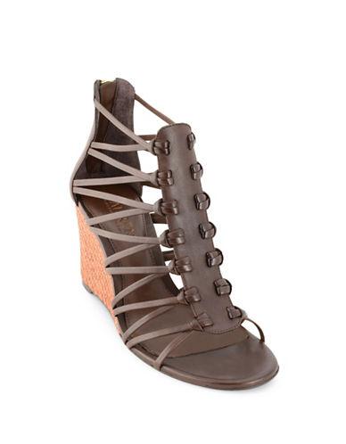Lauren Ralph Lauren Alwz Woven Wedge Heels-BROWN-8