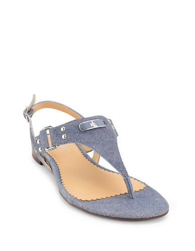 Lauren Ralph Lauren Valina Striped Suede Sandals-BLUE-6 89161592_BLUE_6