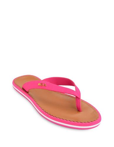 Lauren Ralph Lauren Ryanne Flip Flops-PINK-8