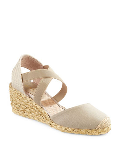 Lauren Ralph Lauren Casandra Espadrille Wedges-LIGHT GREEN-8.5
