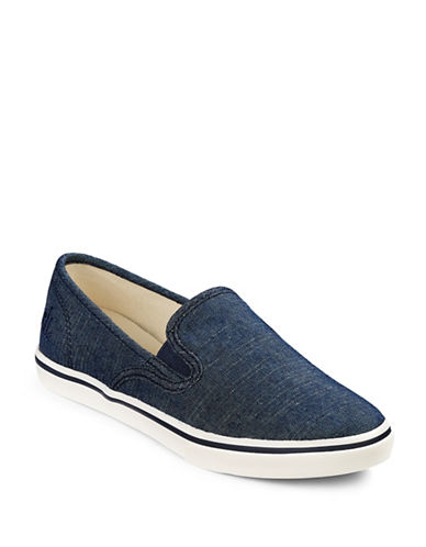 Lauren Ralph Lauren Janis Striped Slip-On Sneakers-BLUE-10 88916215_BLUE_10