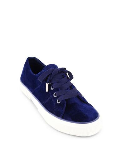 Lauren Ralph Lauren Jolie Velvet Sneakers-NAVY-9