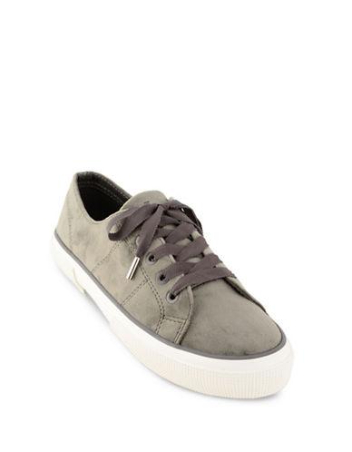 Lauren Ralph Lauren Jolie Velvet Sneakers-GREY-8