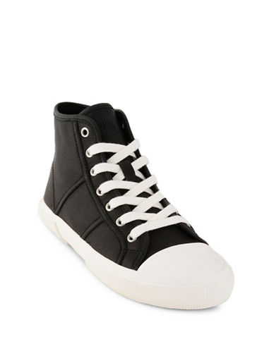 Lauren Ralph Lauren January Leather Hi-Top Sneakers-BLACK-9