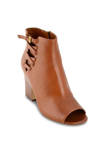 Lauren Ralph Lauren Open Toe Bootie-TAN-5.5