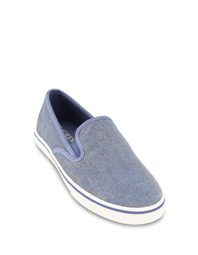 Lauren Ralph Lauren Slip-On Sneakers-BLUE DENIM-6.5