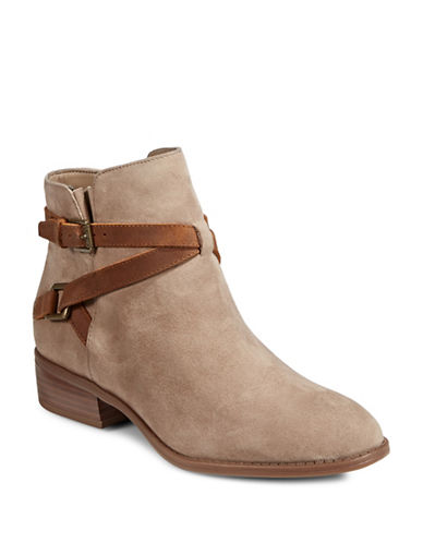 Lauren Ralph Lauren Mehira Leather Ankle Boots-SAND-6.5