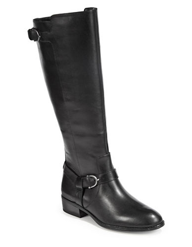 Lauren Ralph Lauren Margarite Riding Boots-BLACK-5.5