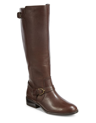 Lauren Ralph Lauren Margarite Riding Boots-BROWN-8