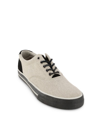 Polo Ralph Lauren Vaughn Canvas Sneakers-GREY-10.5