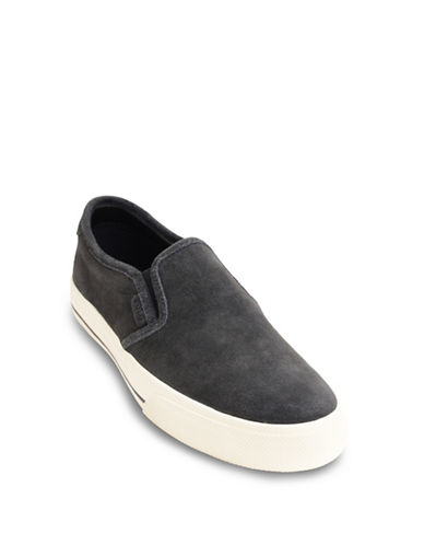 Polo Ralph Lauren Vaughn Suede Slip-On Sneakers-GREY-9.5