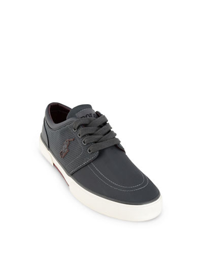 Polo Ralph Lauren Faxon Perforated Sneakers-GREY-11
