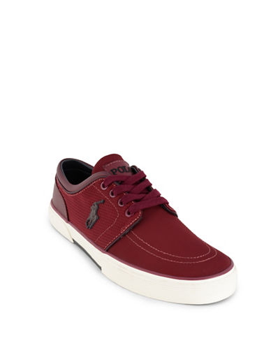 Polo Ralph Lauren Faxon Perforated Sneakers-RED-8.5