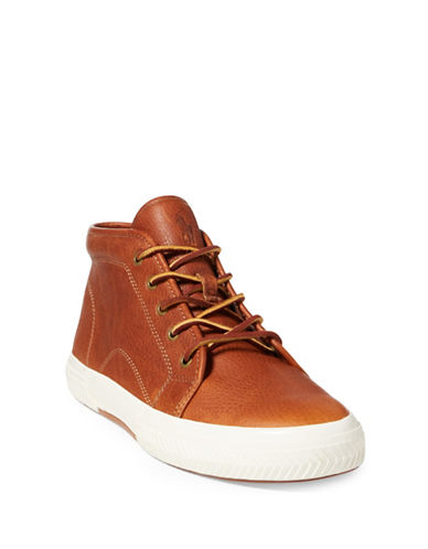 Polo Ralph Lauren Thurlos High-Top Sneaker-TAN-8.5