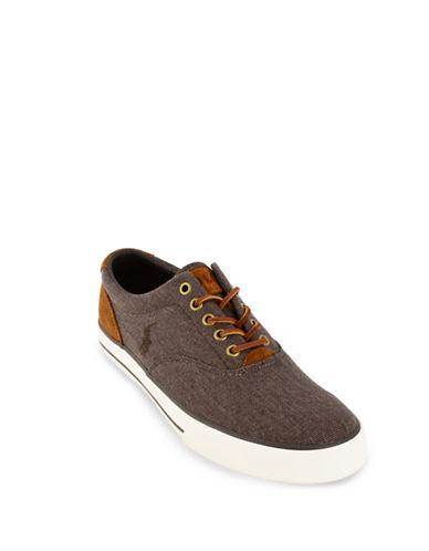 Polo Ralph Lauren Vaughn Canvas Sneakers-BROWN-7