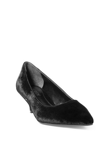 Lauren Ralph Lauren Abbot II Kitten Pumps-BLACK-6.5