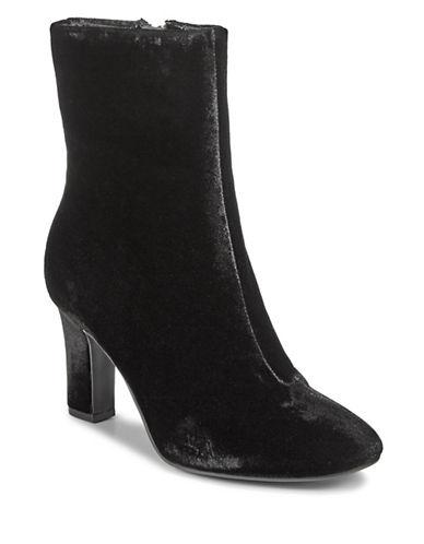 Lauren Ralph Lauren Bridgett Velvet Booties-BLACK-6.5