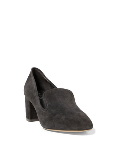 Lauren Ralph Lauren Jenifer Leather Loafer Pumps-GREY-7