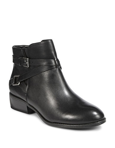Lauren Ralph Lauren Mehira Leather Ankle Boots-BLACK-9