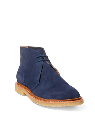 Polo Ralph Lauren Karlyle Suede Chukka Boots-BLUE-12