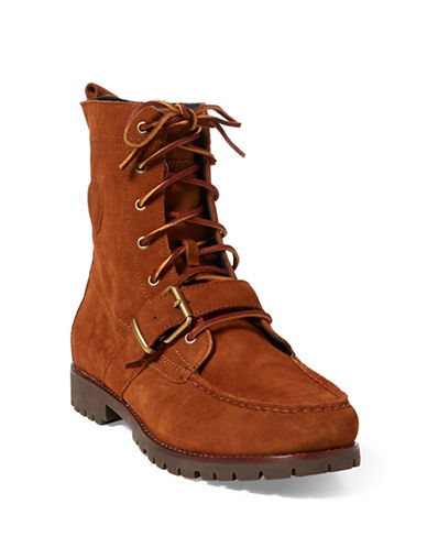 Polo Ralph Lauren Casual Suede Ranger Boots-BROWN-8.5